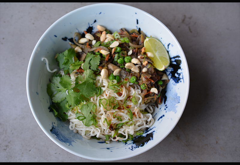 Disgonuts's Japanese Pad Thai with Chinese Noodles